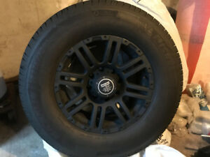 Pickup Truck Tires Michelin Defender LTX & Black Iron Rebels