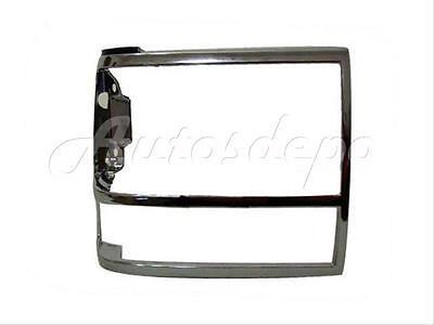 91 94 Ford Explorer 89 92 Ranger 89 90 Bronco Ii Headlight Door Bezel Chrome Rh