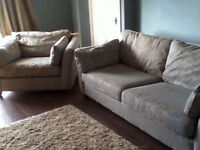 Marks and spencer sofa bed and love chair