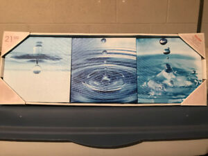 Canvas Artwork (Water Motif) - Three Pictures