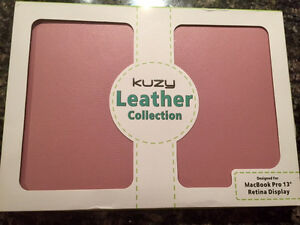 "Kuzy Rose Pink Leather Case -MacBook Pro 13.3"" with retina displ"