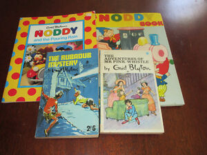 Vintage British - Selection of Enid Blyton Books including Noddy