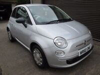 Fiat 500 1.2I POP - 12 MONTHS MOT,SERVICED,WARRANTIED & AA (silver) 2010