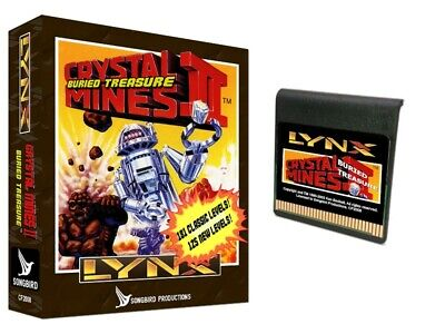 Crystal Mines II: BURIED TREASURE sequel for Atari Lynx BRAND NEW Songbird