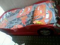 Car bed with mattress and bedding