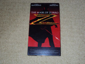 THE MASK OF ZORRO, VHS MOVIE, EXCELLENT CONDITION