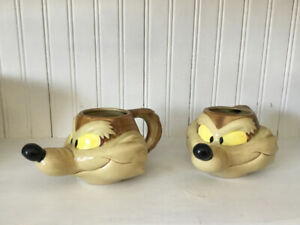 Looney Tunes Wile E. Coyote collectors mugs