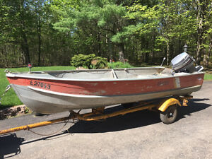 30 HP Yamaha 15 ft Springbok deep and wide with trailer