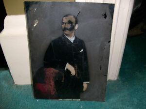 Vintage tin picture
