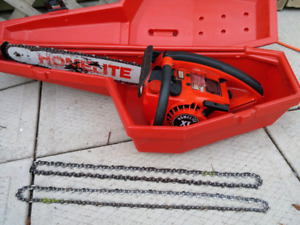Excellent old chainsaw for sale.