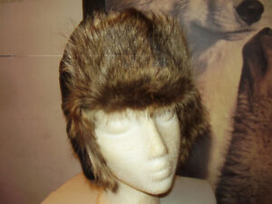 Leather and Fur  Hat Russian  Handmade New