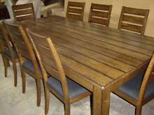 SOLID HARDWOOD TABLE 1200 X 2400 AND 8 CHAIRS Thebarton West Torrens Area Preview