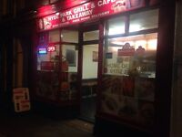 Takeaway kebab fish&chps 2 bed flat a bath £11000 rent a year 10 year lease open lease