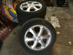 Alloy rims (with tires) $40 each - for Hyundai Accent