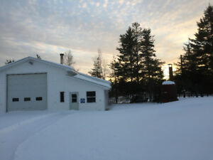 Waterfront property Shediac River land with garage for sale