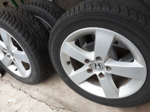 Honda civic mags and Tire 205-55-R16, Bolt pattern 5X114.3