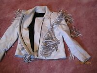 White leather 3pc outfit