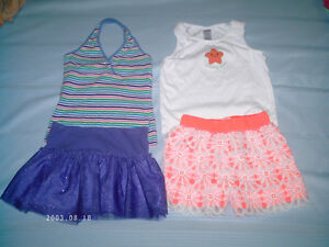 Summer Girls Skorts, dresses & shorts with tops size 7 & 7/8