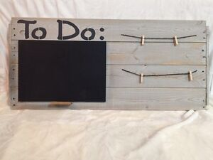 """""""To Do"""" Chalkboard and Hanging Clips"""