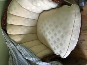 Victorian style sofa and matching chair