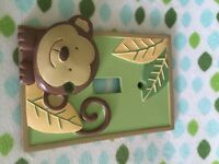 Baby room / Nursery decorations JUNGLE/ MONKEY PAPAGAYO