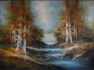 """Forest Sanctuary, Landscape by Paul Cho """"Woodland Stream"""" 1970's Stratford Kitchener Area image 2"""