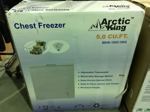 Arctic King 5.0 cu ft Chest Freezer  (never used)
