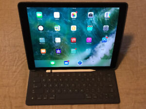 "iPad Pro 12.9"" WiFi 128GB Gray w/smart keyboard/pencil/case"