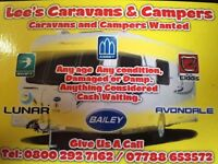 Wanted caravans and campers