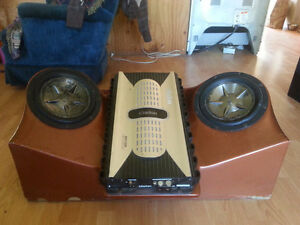 1500 watt clarion amp and subs