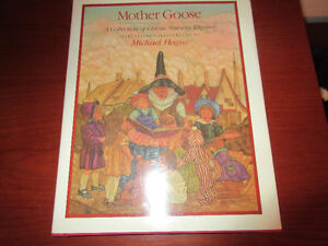 Mother Goose - Michael Hague. HC DJ Mint  1984  Gorgeous