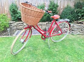Pashley Britannia Ladies Traditional Bicycle w/ Basket & Versatile Rear Carrier
