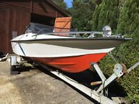 14ft speedboat +75hp mariner + trailer