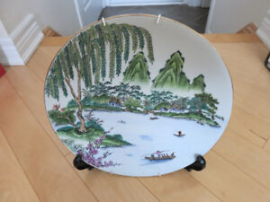 Scenery Painting Porcelain Dish