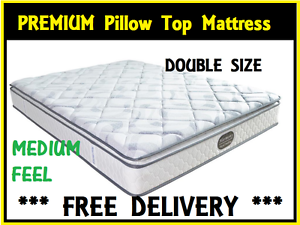 DOUBLE Size PREMIUM Pillow Top Mattress BRAND NEW FREE DELIVERY New Farm Brisbane North East Preview