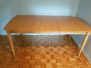 Table de diner en bois/ Wood kitchen table