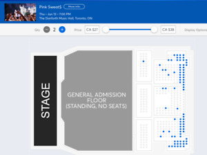LOOKING FOR 2 GENERAL ADMISSION TICKETS FOR PINK SWEAT$ TORONTO