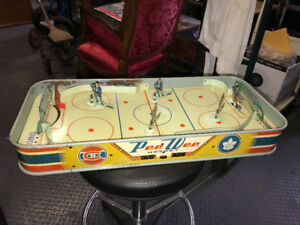 VERY RARE VINTAGE 1950s NHL PEE WEE TABLE TOP HOCKEY GAME EAGLE