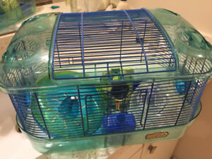Hamster cage and supplies