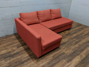 (Free Delivery) - Orange Ikea Friheten sectional sofa bed