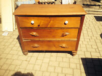 Old antique dresser  solid wood 36 h 41.5 long 17 deep