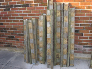 Used Fence material  all 2x4s, various lengths