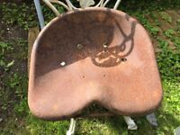 Vintage tractor seat - upcycle for unique stool