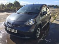 Bargain Toyota aygo long MOT, FSH only £20 road tax cheap to insure
