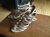 Gladiator style size 8.5 leather shoes SPRING