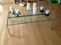 Table a cafe en verre *** Vintage ***Glass Coffee table