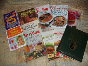 11 COOKING BOOKS AND 8 MEDICAL BOOKS ALL FOR ONLY 5.00  PICK UP