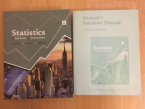 statistics for business and economics, 12edition