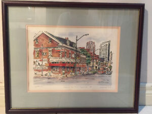 Signed Hand-colored Print - Yonge & Sheppard by Lynette Yu