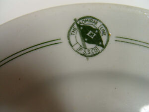 Pacific Steamship Company, Admiral Line Plate & Pass
